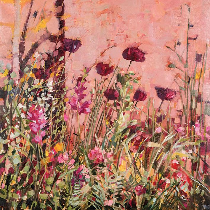 Canvas Print Anne-Marie Butlin - Mediterranean Garden 2