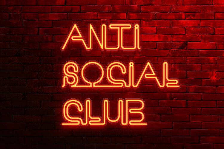 Canvas Print Anti social club