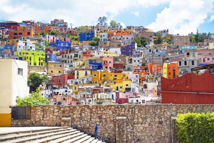 Canvas Print Architecture Guanajuato