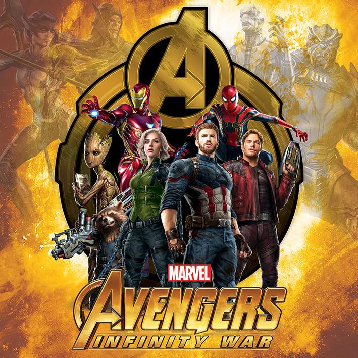 Canvas Print Avengers Infinity War - Explosive