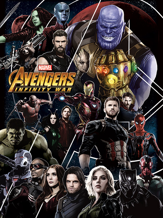 Avengers Infinity War - Heroes Unite Canvas Print