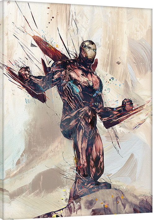Canvas Print Avengers Infinity War - Iron Man Sketch