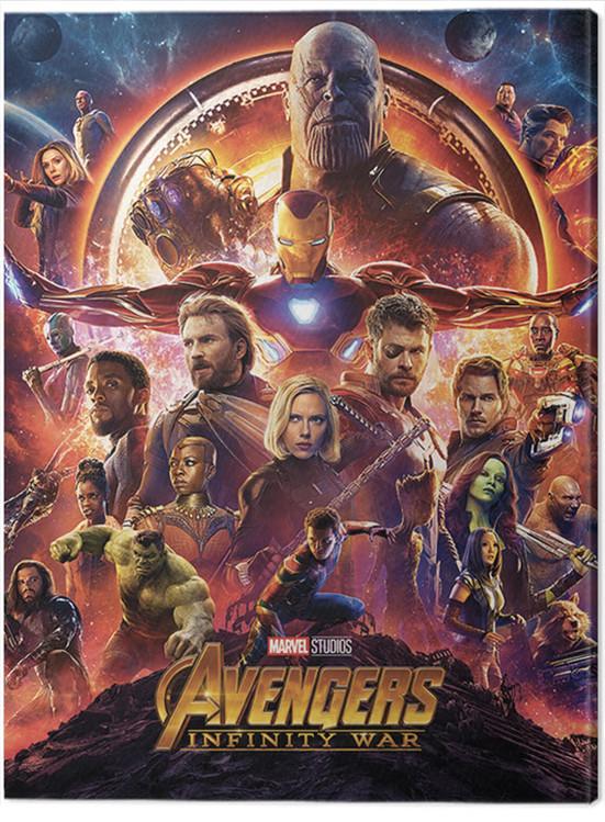Canvas Print Avengers: Infinity War - One Sheet