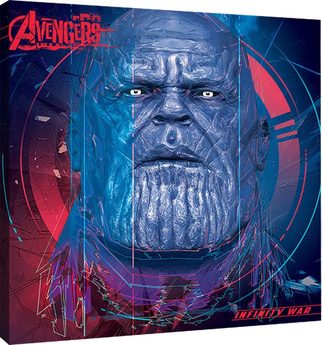 Canvas Print Avengers Infinity War - Thanos cubic Head