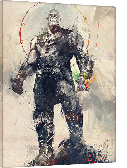 Avengers Infinity War - Thanos Sketch Canvas Print