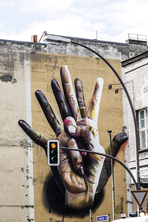 Berlin grafitti art Canvas Print