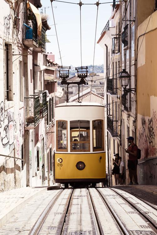 Bica Yellow Tram Canvas Print