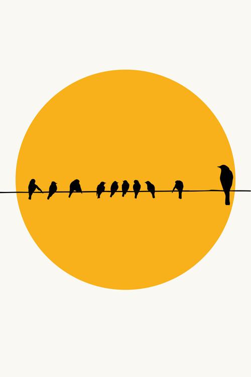Canvas Print Birds Family