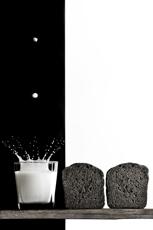 Canvas Print Black and white