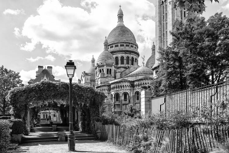 Canvas Print Black Montmartre - Behind Sacre-Coeur Basilica