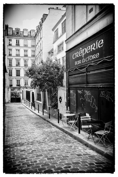Canvas Print Black Montmartre - Creperie
