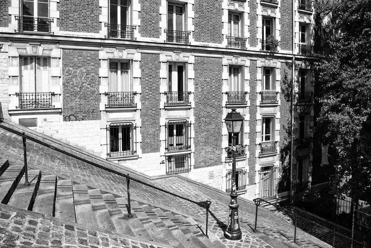 Canvas Print Black Montmartre - French Architecture