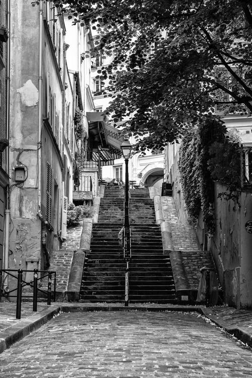 Canvas Print Black Montmartre - French Street
