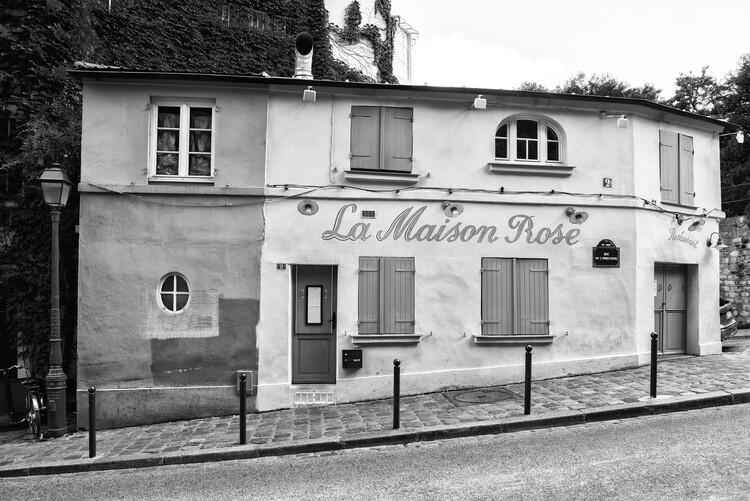 Canvas Print Black Montmartre - La Maison Rose