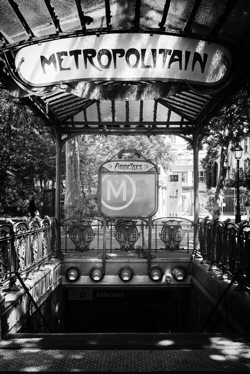 Canvas Print Black Montmartre - Montmartre Metro