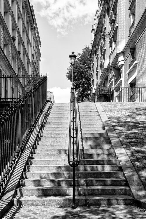 Canvas Print Black Montmartre - Montmartre Staircases