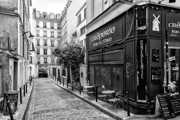 Canvas Print Black Montmartre - Old Street