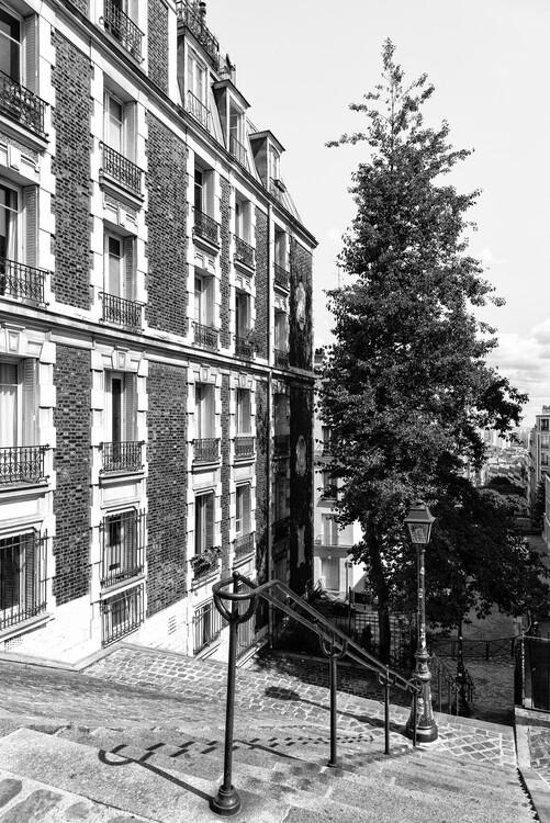 Canvas Print Black Montmartre - Paris Architecture