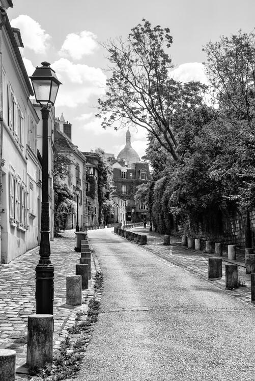 Canvas Print Black Montmartre - Paris Je t'aime