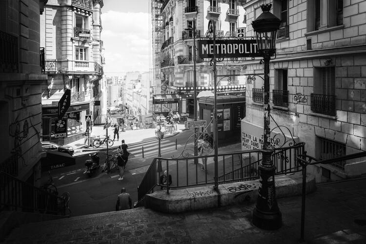 Canvas Print Black Montmartre - Paris Metropolitain