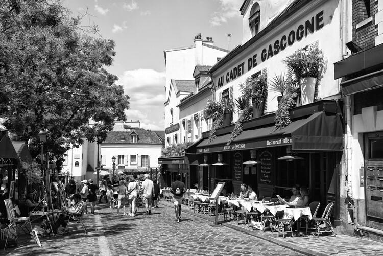 Canvas Print Black Montmartre - Paris Place du Tertre