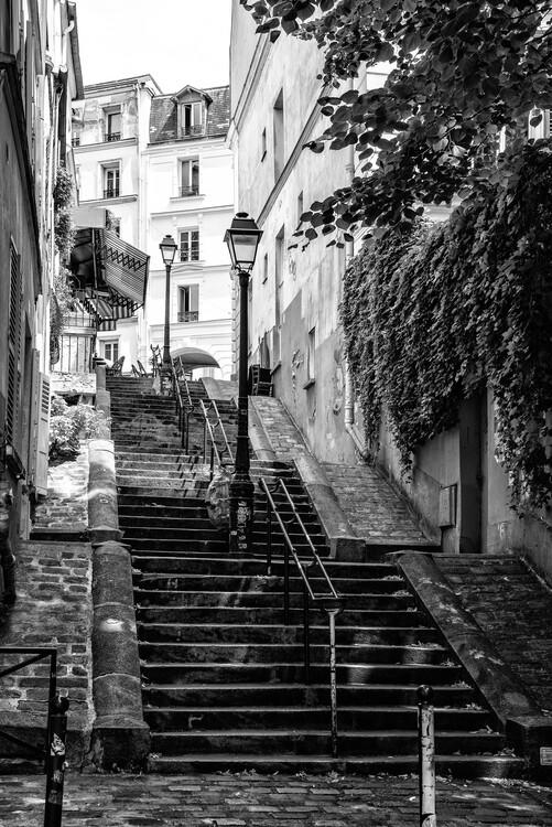 Canvas Print Black Montmartre - Paris Step by Step