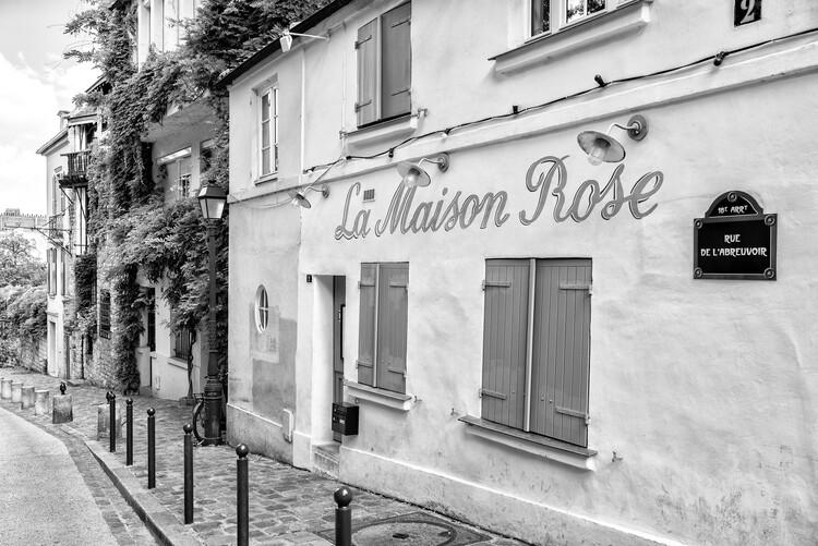 Canvas Print Black Montmartre - Rue de l'Avreuvoir