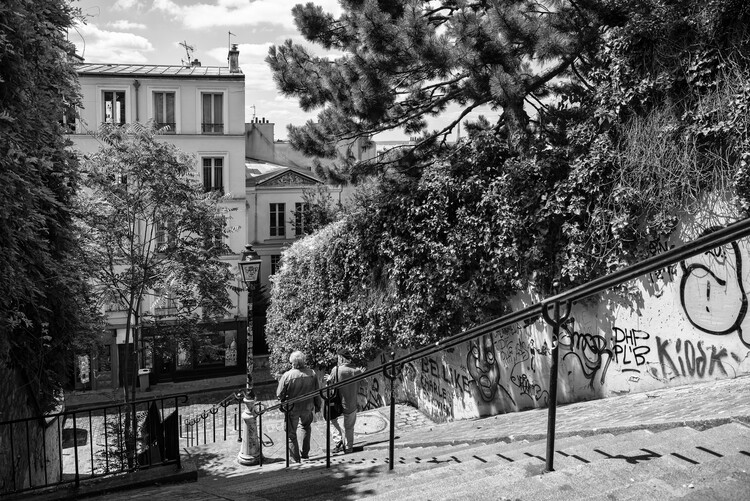 Canvas Print Black Montmartre - Sunday in Paris