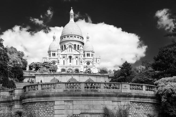 Canvas Print Black Montmartre - The Sacre-Coeur Basilica