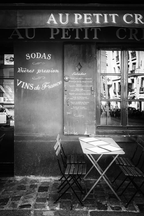 Canvas Print Black Montmartre - Vins de France