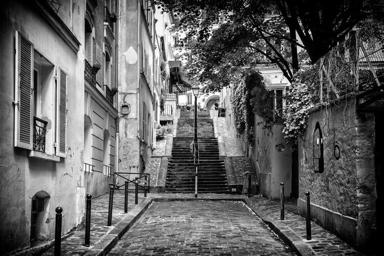 Canvas Print Black Montmartre - Walk in Montmartre