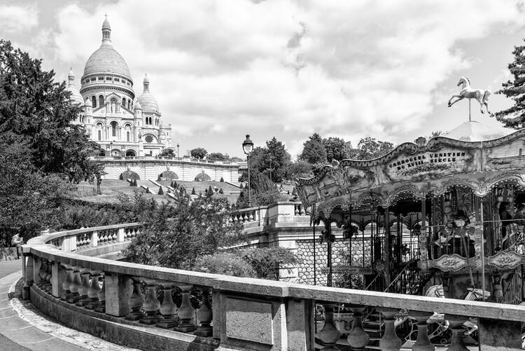 Canvas Print Black Montmartre - Weekend in Paris