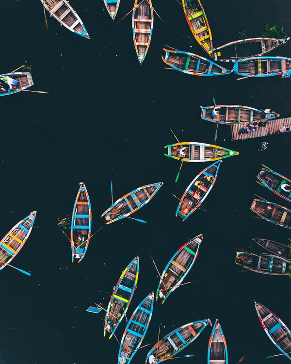 Canvas Print Boat Rush