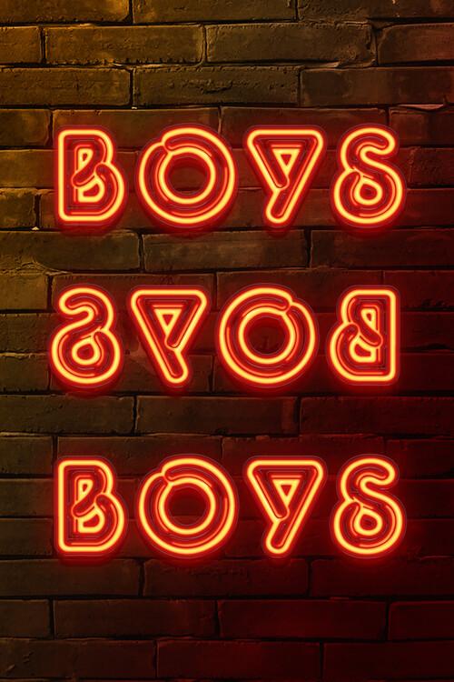 Canvas Print BOYS BOYS BOYS