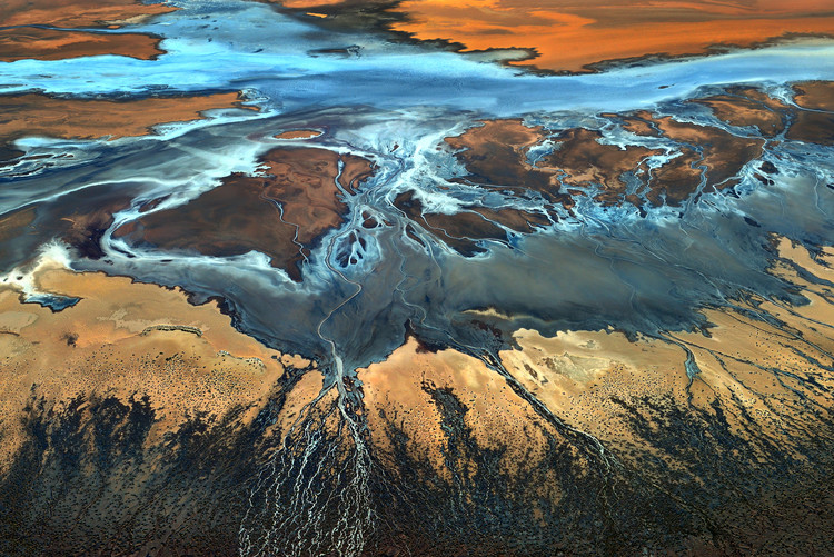 Canvas Print California Aerial - The Desert From Above