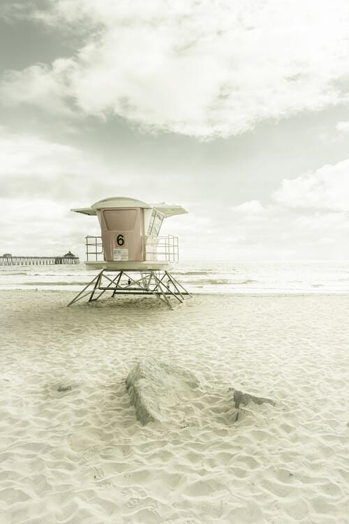 CALIFORNIA Imperial Beach | Vintage Canvas Print