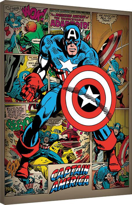 Canvas Print Captain America - Retro