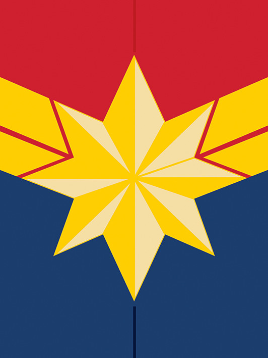 Canvas Print Captain Marvel - Emblem