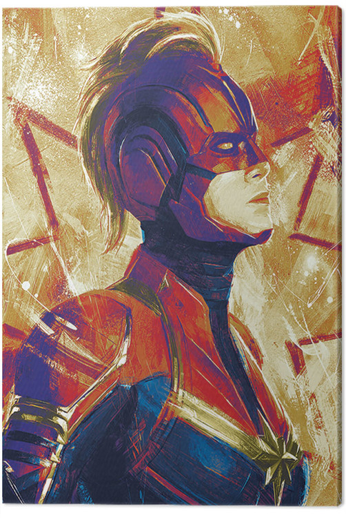 Canvas Print Captain Marvel - Paint