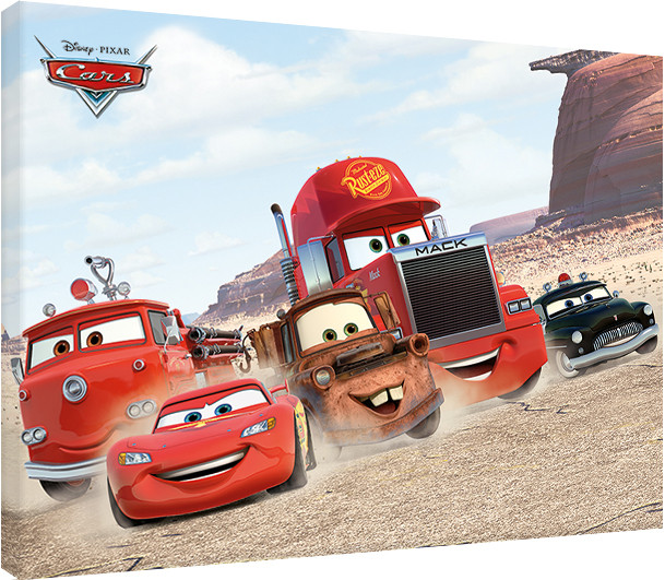 Canvas Print Cars - Desert Race