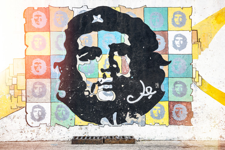 Canvas Print Che Guevara mural in Havana