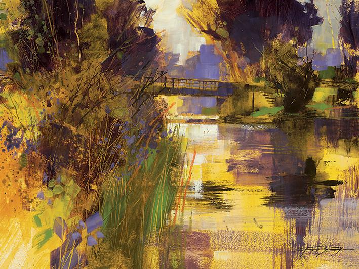 Canvas Print Chris Forsey - Bridge & Glowing Light