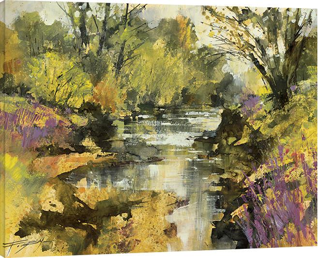 Canvas Print Chris Forsey - Riverside in April