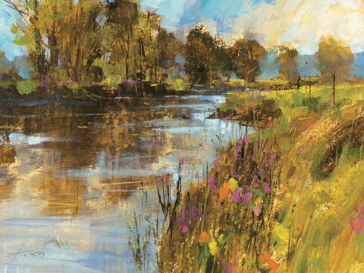Canvas Print Chris Forsey - Spring River