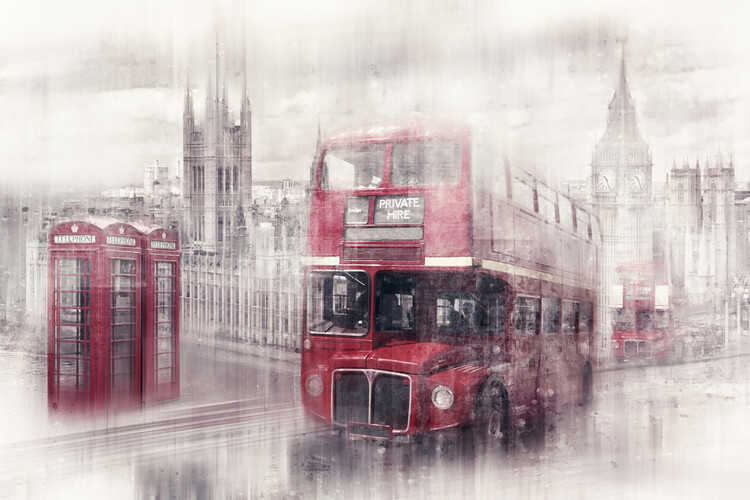 Canvas Print City Art LONDON Westminster Collage