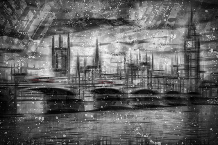 Canvas Print City Shapes LONDON Houses of Parliament