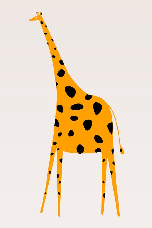 Canvas Print Cute Giraffe