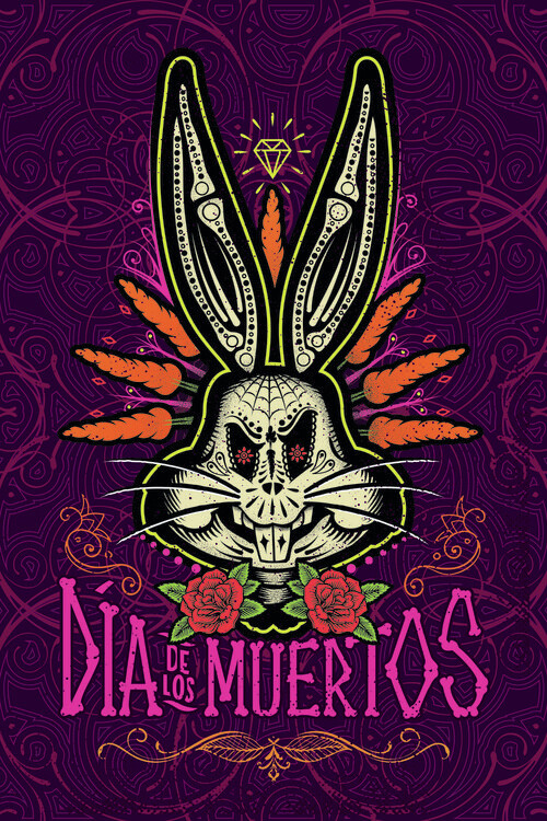 Canvas Print Daffy Duck - Day of the Dead