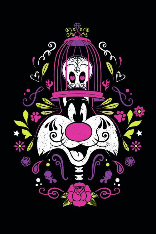 Canvas Print Daffy Duck - Sylvester