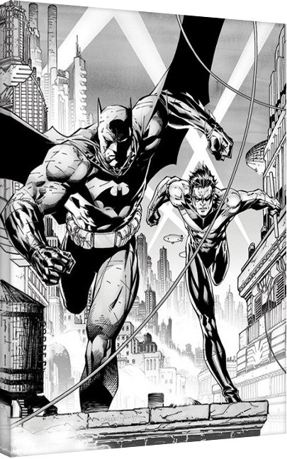 Canvas Print DC Comics - Batman & Nightwing